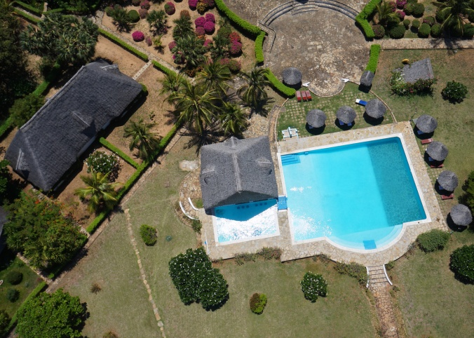 Hexacopter aerial photography of hotel in Kenya