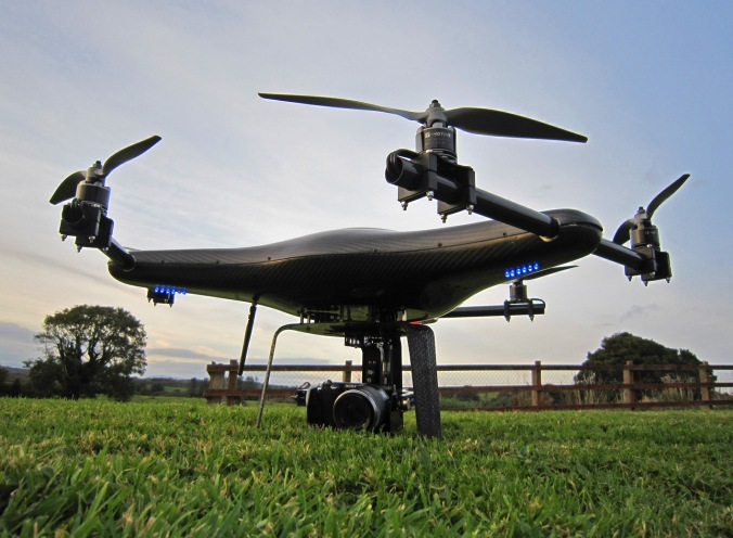 Versa X6 hexacopter for aerial photography and video