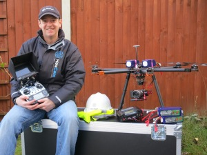 Elliott with some of HexCam's equipment